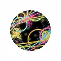 8 Piatti Tondi Carta Glow 18 cm
