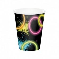 8 Bicchieri Carta Glow 266 ml
