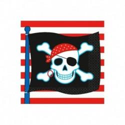 16 Tovaglioli Carta Pirati 25x25 cm
