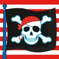 16 Tovaglioli Carta Pirati 33x33 cm