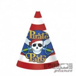 8 Cappellini Cono Pirati