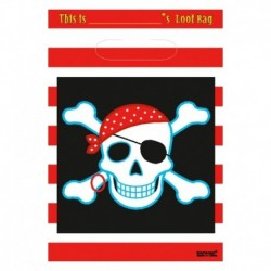 8 Loot Bag Pirati 18x22 cm