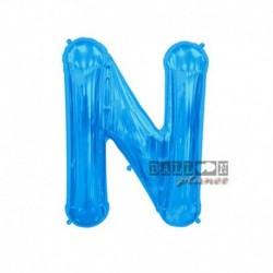 Pallone Lettera N Blu 40 cm