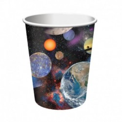 8 Bicchieri Carta Space Blast 266 ml