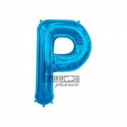 Pallone Lettera P Blu 40 cm
