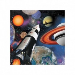 16 Tovaglioli Carta Space blast 25x25 cm