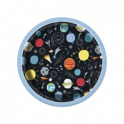 8 Piatti Tondi Carta Outer Space 18 cm