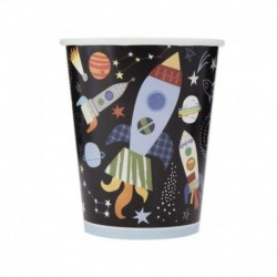 8 Bicchieri Carta Outer Space 266 ml