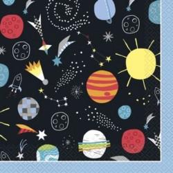 16 Tovaglioli Carta Outer Space 33x33 cm