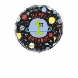 Pallone Spazio Primo Compleanno 45 cm