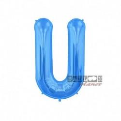 Pallone Lettera U Blu 40 cm