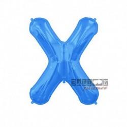 Pallone Lettera X Blu 40 cm