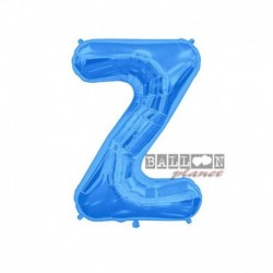Pallone Lettera Z Blu 40 cm