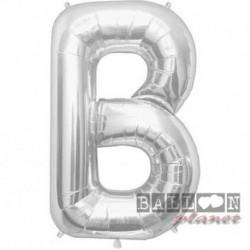 Pallone Lettera B Argento 90 cm