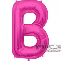 Pallone Lettera B Fucsia 90 cm
