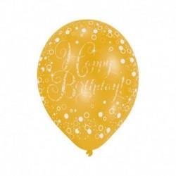 6 Palloncini Happy Birthday 28 cm