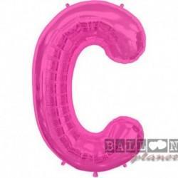 Pallone Lettera C Fucsia 90 cm