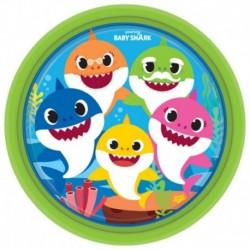 8 Piatti Tondi Carta Baby Shark 23 cm