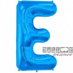 Pallone Lettera E Blu 90 cm