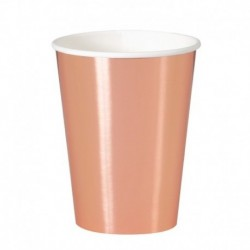 8 Bicchieri Carta Rose Gold 355 ml