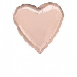 Pallone Cuore Rose Gold 45 cm