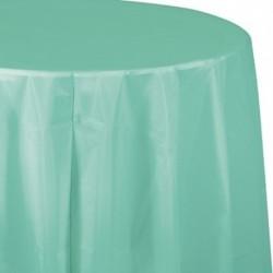 Tovaglia Plastica Tonda Verde Menta 205 cm