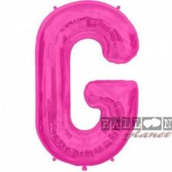 Pallone Lettera G Fucsia 90 cm