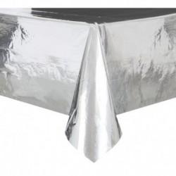 Tovaglia plastica 137x274 cm Argento Metallizzato