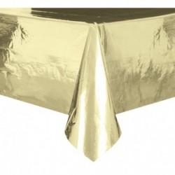 Tovaglia Plastica Oro Metallizzato 137x274 cm