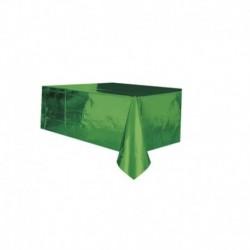 Tovaglia Plastica Verde Metallizzato 137x274 cm