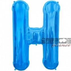 Pallone Lettera H Blu 90 cm