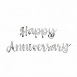 Festone Happy Anniversary Argento 180 cm