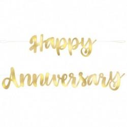 Festone Happy Anniversary Oro 180 cm