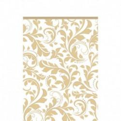 Tovaglia Plastica Damascata Oro 137x274 cm