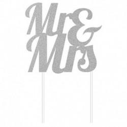 Deco Torta Mr & Mrs Oro Glitterato 24 cm