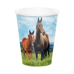 8 Bicchiere Carta Cavalli 266 m