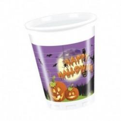 8 Bicchieri Plastica Spooky 266 ml
