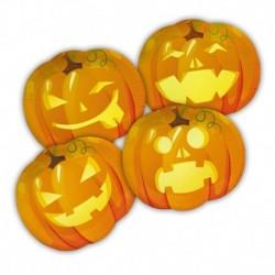 8 Piatti Tondi Carta Pumpkins 29x25 cm
