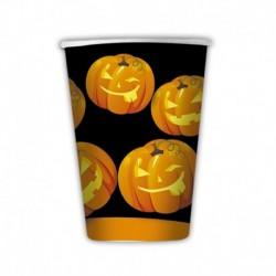 8 Bicchieri Carta Pumpkins 200 cc