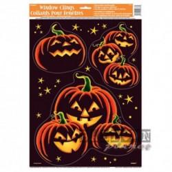 3 Adesivi Zucca Halloween 20x20 cm