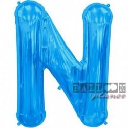 Pallone Lettera N Blu 90 cm