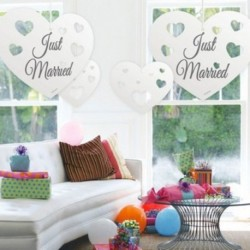 4 Pendenti cuore Just Married
