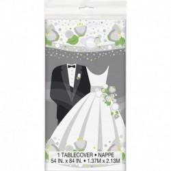 Tovaglia Plastica Wedding 137x213 cm