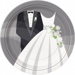 8 Piatti Carta Wedding 23 cm