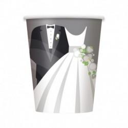 8 Bicchieri Carta Wedding 266 ml