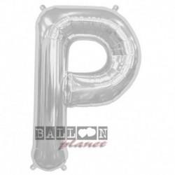 Pallone Lettera P Argento 90 cm