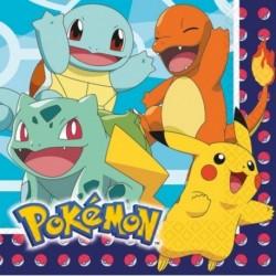 20 Tovaglioli Carta Pokemon 33x33 cm