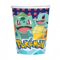 8 Bicchiere Carta Pokemon 250 ml