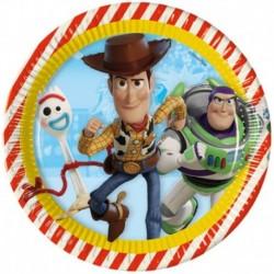 8 Piatti Tondi Carta Toy Story23 cm