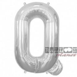 Pallone Lettera Q Argento 90 cm
